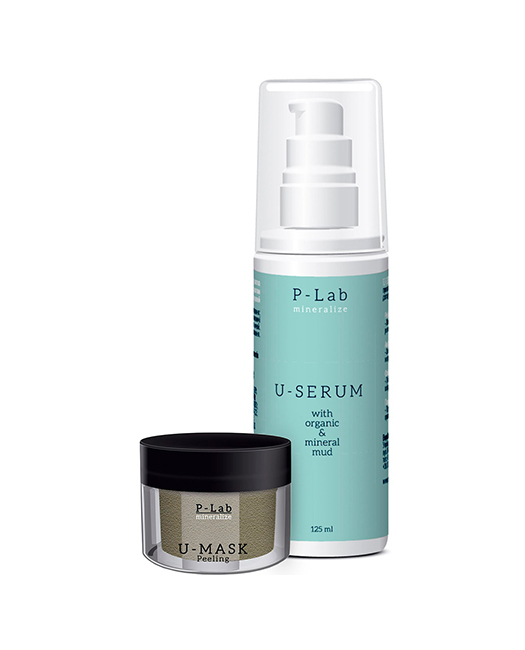 Акция Сыворотка U-Serum+U-Mask Peeling 50мл. 125+50 мл.